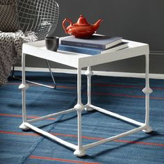 Square Papier-Mâché Side Table by Steven Alan for west elm —handcrafted in Haiti