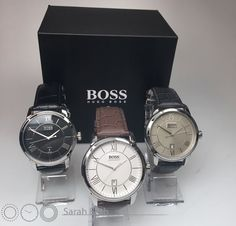 Here's a few more of our Hugo Boss watches, on a leather strap this time! The Roman Numeral Indicators are very stylish and with a date feature, these are top notch watches