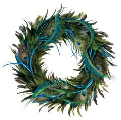 Peacock Wreath- Have this and not sure how I feel about it. Love it up close, but far away it appears to be an all black wreath on my door... Hmmmm