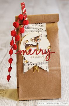 Teneale Williams   INKspired blog hop 24   Home for Christmas DSP and Christmas Greetings Thinlits Dies from Stampin' Up!
