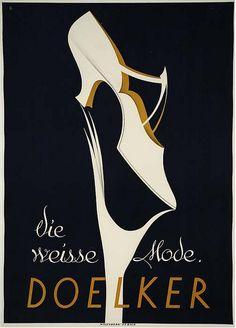 Vintage Doelker shoe ad.  #vintage #shoes #ads