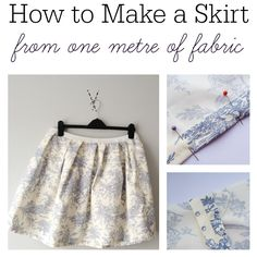 Can't follow patterns? Me neither but following these instructions on how to make a skirt from one metre of fabric I made a skirt in an hour!