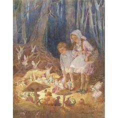 The Fairies' Market - M W Tarrant Print