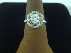 Diamond flower style cocktail ring. #jrfoxjewelers #diamond #ring