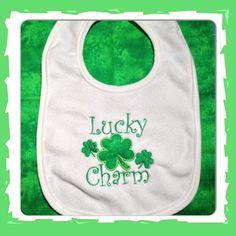 St Patrick's Day Baby Bib by WiddleWonders on Etsy, $8.50