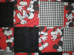 Vintage Mickey Mouse Patchwork Quilt by GoughGoodies on Etsy
