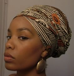 Head wrap-- I love how this is wrapped!