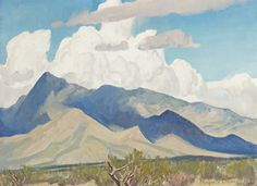 A summary of Maynard Dixon's travels and painting through Arizona, California, New Mexico, Nevada, and Utah. Maynard Dixon is featured in the Mark Sublette Medicine Man Gallery. Mountain Art, Mountain Landscape, Abstract Landscape, Landscape Paintings, Maynard Dixon, Southwestern Art, Mexican Artists, Painting Wallpaper, American Art