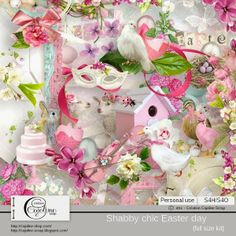 "CAJOLINE-SCRAP: NEW KIT ! ""Shabby chic Easter day"" - PU/S4H"