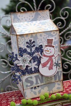 Oh My Crafts Blog: Snowman Milk Carton