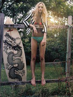 Gemma Ward. #beach #surf #style