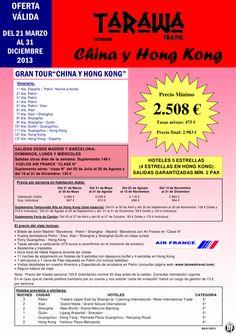 """Gran Tour """"China y Hong Kong"""" 13 días -- Salidas hasta Diciembre desde 2508 € - http://zocotours.com/gran-tour-china-y-hong-kong-13-dias-salidas-hasta-diciembre-desde-2508-e/"""