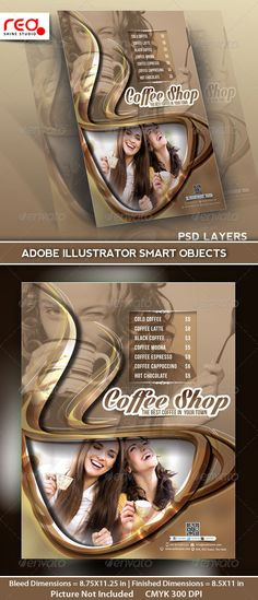 #Coffee Shop Menu Flyer Template - #Restaurant #Flyers Download here: https://graphicriver.net/item/coffee-shop-menu-flyer-template/5161759?ref=alena994