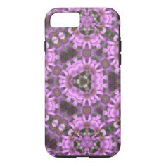 Violet Wood-Sorrel Kaleidoscope iPhone 8/7 Case - stylish gifts unique cool diy customize