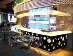 Cafe Bar Counter, Bar Counter Design, Design Café, Cafe Design, Solid Surface, Shenzhen, Halle, Barra Bar, Bar Led