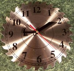 """10"""" Steel Circular Saw Blade CLOCK with Second Hand NEW #brandnew"""