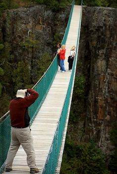 Walk the Suspension Bridge in Thunder Bay, Ontario. You can even try zip lining too! Yikes!