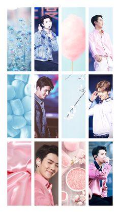 Sehun pink and blue aesthetic wallpaper. Aesthetic Roses, Aesthetic Boy, Aesthetic Grunge, Aesthetic Vintage, Pastel Room, Sehun, Exo, Pastel Grunge, Backrounds