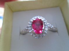 Vintage Designer 1.35ctw Ruby and White Sapphire 925 Sterling Silver Ring 3.4 Grams, Size 7
