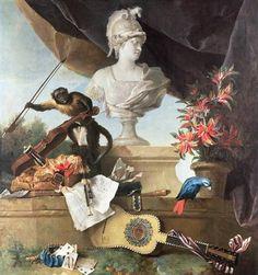 Titre de l'image : Jean Baptiste Oudry - The Four Continents: Europe