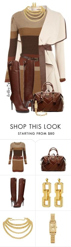Sweater Dress by kelley74 ❤ liked on Polyvore featuring Coach, Burberry, Eddie Borgo, Giuseppe Zanotti and Stella Dot