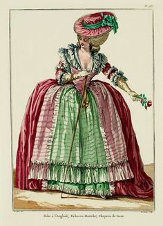 1784 Robe a l'Anglaise - French Fashion Plate