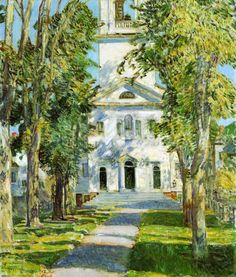 The Church at Gloucester, 1918 - Frederick Childe Hassam