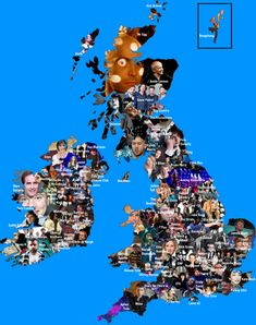 British music mapped - Vivid Maps Classic Rock And Roll, Most Famous Artists, Map Design, Top Artists, United Kingdom, Maps, Irish, Music, Book