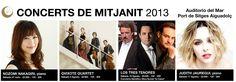 Concerts de Mitjanit 2013, Festival Internacional de Música de Sitges. Del 27/07/2013 al 17/08/2013
