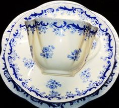 Shelley England 12pcs Heavenly Blue Tea Cup and Saucer Trio Set | eBay