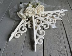 White Shelf Brackets Corner Bracket French Country by Swede13