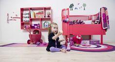 Raspberry red via Little Scandinavian Nordic Living, Children's Place, Girl Room, Diy For Kids, Baby Baby, Baby Girls, Playroom, Kids Places, Scandinavian