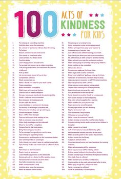 100 Acts of Kindness for Kids | www.coffeecupsandcrayons.com