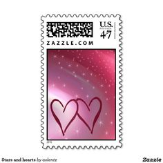 Stars and hearts postage
