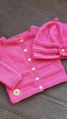 Ravelry: ROMA Baby Cardigan Jacket pattern by marianna mel Knitting Baby Girl, Baby Cardigan Knitting Pattern Free, Baby Sweater Patterns, Knitted Baby Cardigan, Knit Baby Sweaters, Knitted Baby Clothes, Baby Knitting Patterns, Crochet Baby, Booties Crochet