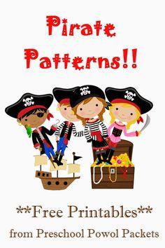 {FREE} Pirate Patterns Preschool Packet | Preschool Powol Packets
