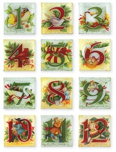 The Twelve Days of Christmas plates