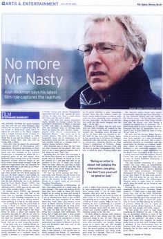 Alan Rickman Interview .... Oh.! This is FANTASTIC.!!!