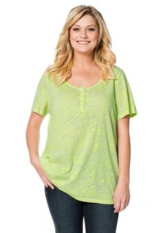 Typ , Ausbrenner-Shirt, |Materialzusammensetzung , 60% Baumwolle, 40% Polyester, |Ausschnitt , Rundhals-Ausschnitt, |Ärmelstil , Kurzarm, |Gesamtlänge , Größenangepasste Länge von ca. 70 bis 78 cm, | ...