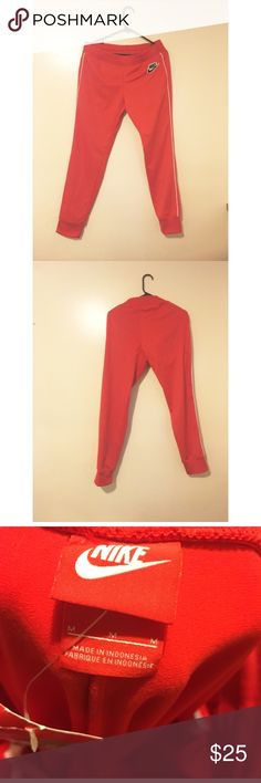 Nike red jogger tracksuit pants Nike red jogger pants Nike Pants Track Pants & Joggers