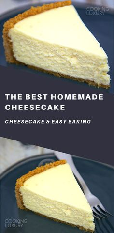 Best Homemade Cheesecake - get the secret for the lightest and fluffiest cheesecake ever!The Best Homemade Cheesecake - get the secret for the lightest and fluffiest cheesecake ever! Homemade Cheesecake, Cheesecake Recipes, Cheesecake Cake, Just Desserts, Baking Desserts, Cranberry Muffins, Healthy Cake Recipes, Coffee Cake, Cupcake Cakes