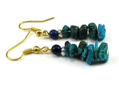 Turquoise Semi-Precious Gemstone Chips with Lapis Dangle Fashion Earrings Creative Ventures Jewelry, http://www.amazon.com/dp/B006FXG906/ref=cm_sw_r_pi_dp_kFIXpb1QZS67S
