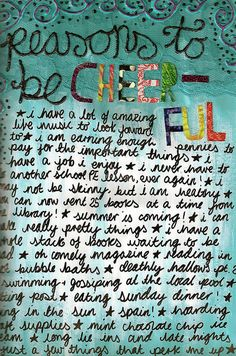 Reasons to be cheerful... by AmyFlorence, via Flickr