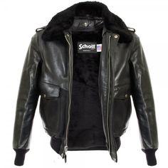 Schott NYC UK | A-2 Cowhide Black Leather Jacket