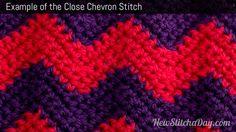 Example of the Close Chevron Stitch