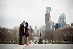 Engagement Session in Philadelphia. Photo by Maloman Studios