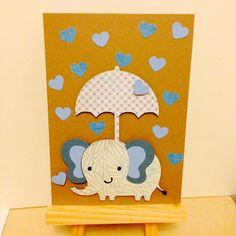 Elephant baby shower card
