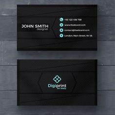 tarjetas de presentacion negras elegantes