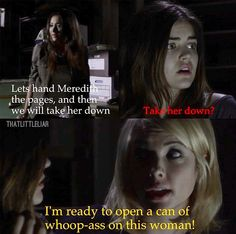 Pretty Little Liars season 3- Hannah's ready to open a can of whoop ass!