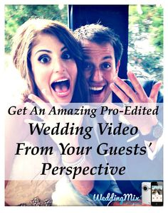 Now, EVERY couple can get their magical, pro-edited wedding video! Use the @WeddingMix app to save unlimited guest photo & video, forever. Our editors turn your best moments into a fantastically fun, highlight video of your wedding.